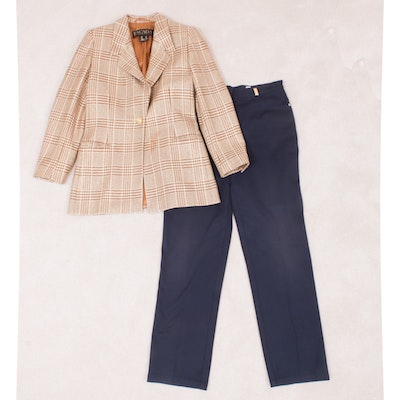 Escada Wool Houndstooth Jacket with St. John Sport Trousers