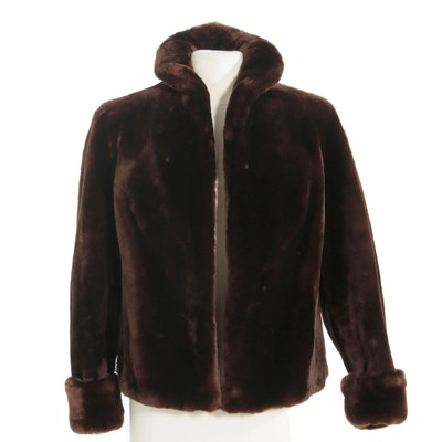 Mouton Fur Jacket, Mid to Late 20th Century