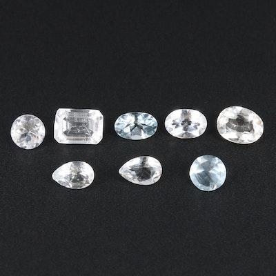Loose 4.48 CTW Aquamarine and Blue Topaz Gemstones