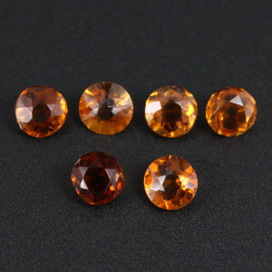 Loose 2.30 CTW Citrine Gemstones