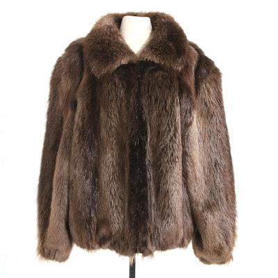 Beaver Fur Zip-Front Jacket from The Fur Vault