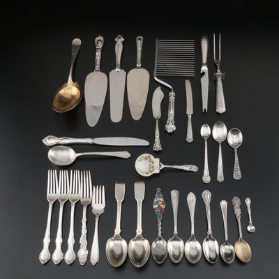 English and American Sterling Silver Flatware and Serving Utensils