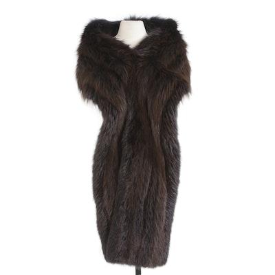 Dyed Fox Fur Wrap