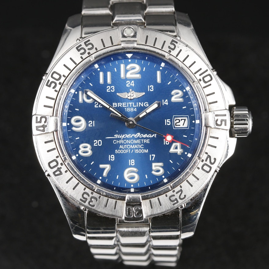 Breitling Superocean Stainless Steel Automatic Wristwatch, 2006