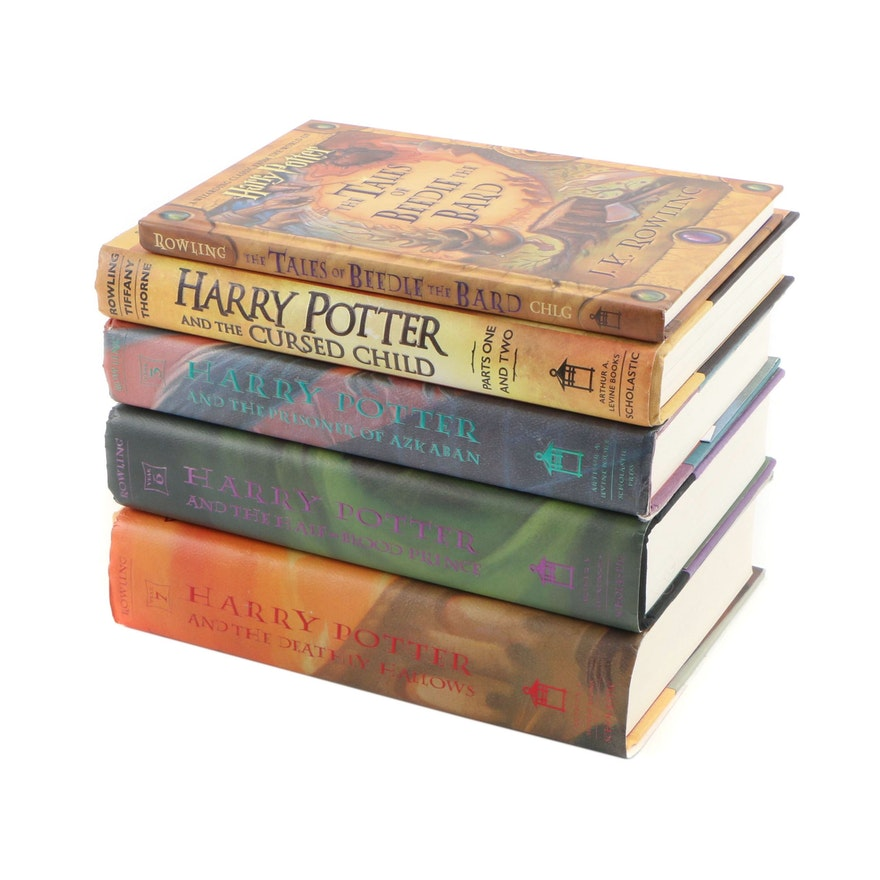 """Harry Potter"" Books featuring First American and First Editions"