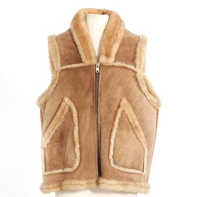 Sheepskin and Shearling Zipper-Front Vest