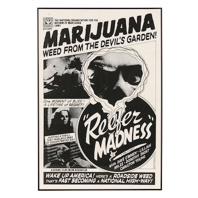"""""""Reefer Madness"""" NORML Re-Release Theatrical One-Sheet Poster, 1970s"""