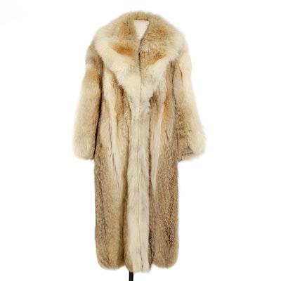 Fox Fur Coat with Shawl Collar, Vintage
