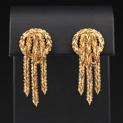 18K Yellow Gold Riccio Dangle Earrings