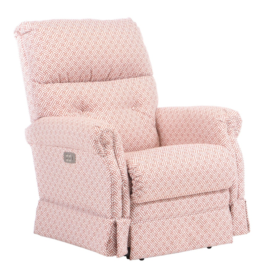 Upholstered Pillow Back Electric Reclining and Lift Chair, Contemporary