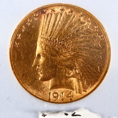 1914-S Indian Head $10 Gold Coin