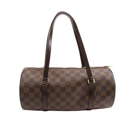 Louis Vuitton Papillon 30 in Damier Ebene Coated Canvas and Leather