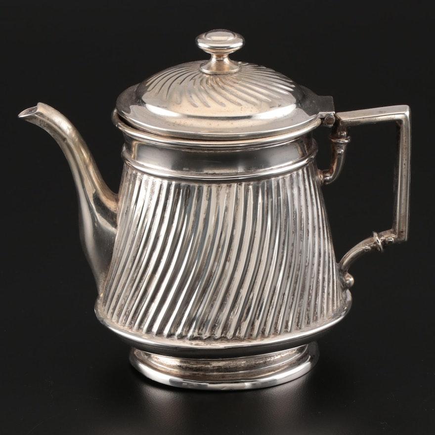 M.H. Wilkens & Söhne German 800 Silver Swirl Pattern Individual Teapot