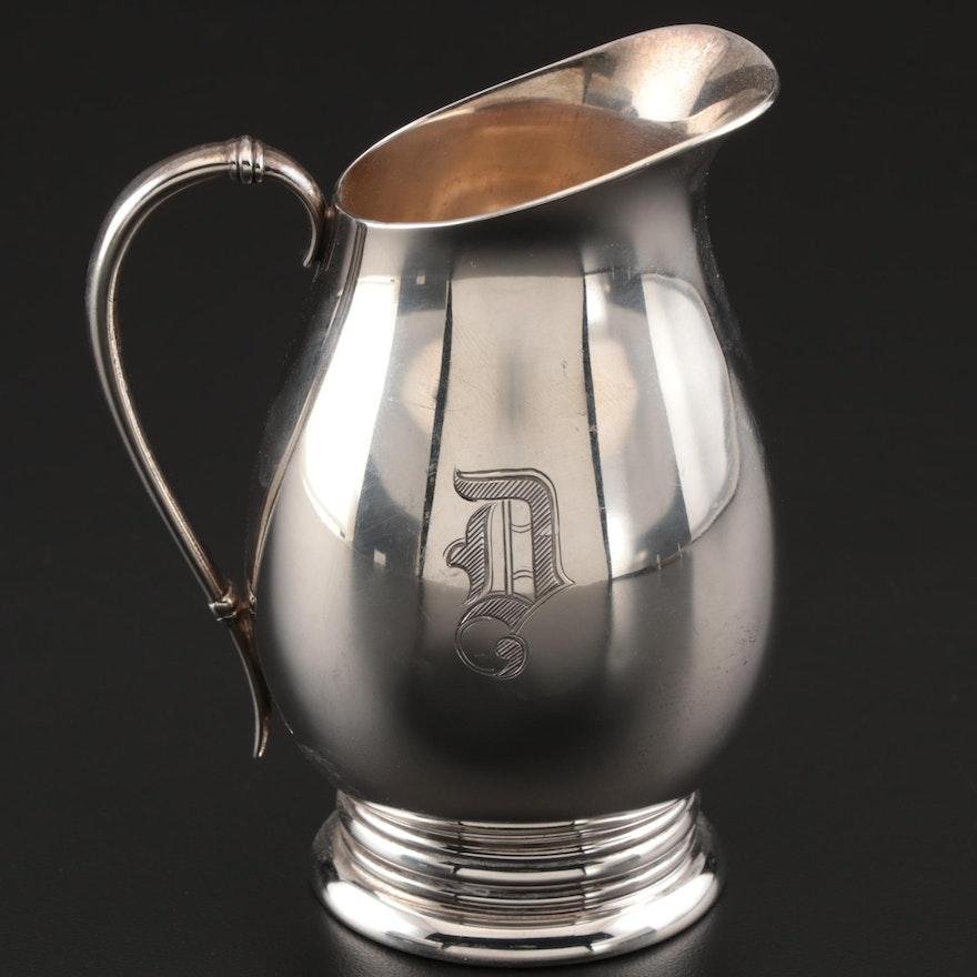 "International Silver Co. ""Royal Danish"" Sterling Silver Creamer"