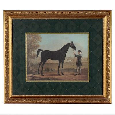 "Equestrian Offset Lithograph after Richard Roper ""The Racehorse Othello"""