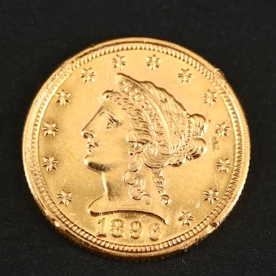 1896 Liberty Head $2 1/2 Gold Coin