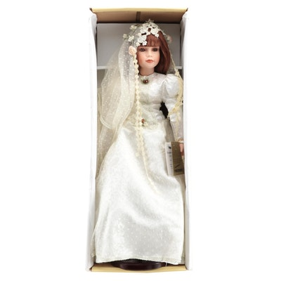 "26"" Seymour Mann ""Alicia"" Porcelain Bride Doll With Original Box, Limited Ed."