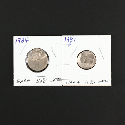 Two Off-Center Error Coins