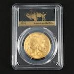 PCGS Graded MS70 2016 American Buffalo $50 Gold Bullion Coin