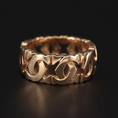 Cartier 18K Yellow Gold Double C Ring