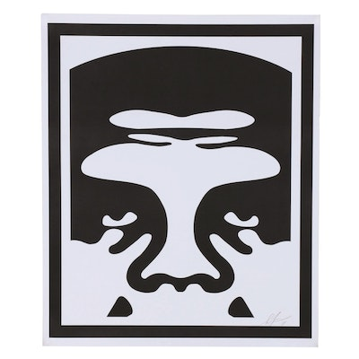 "Shepard Fairey Offset Print ""OBEY 3-Face (White)"""
