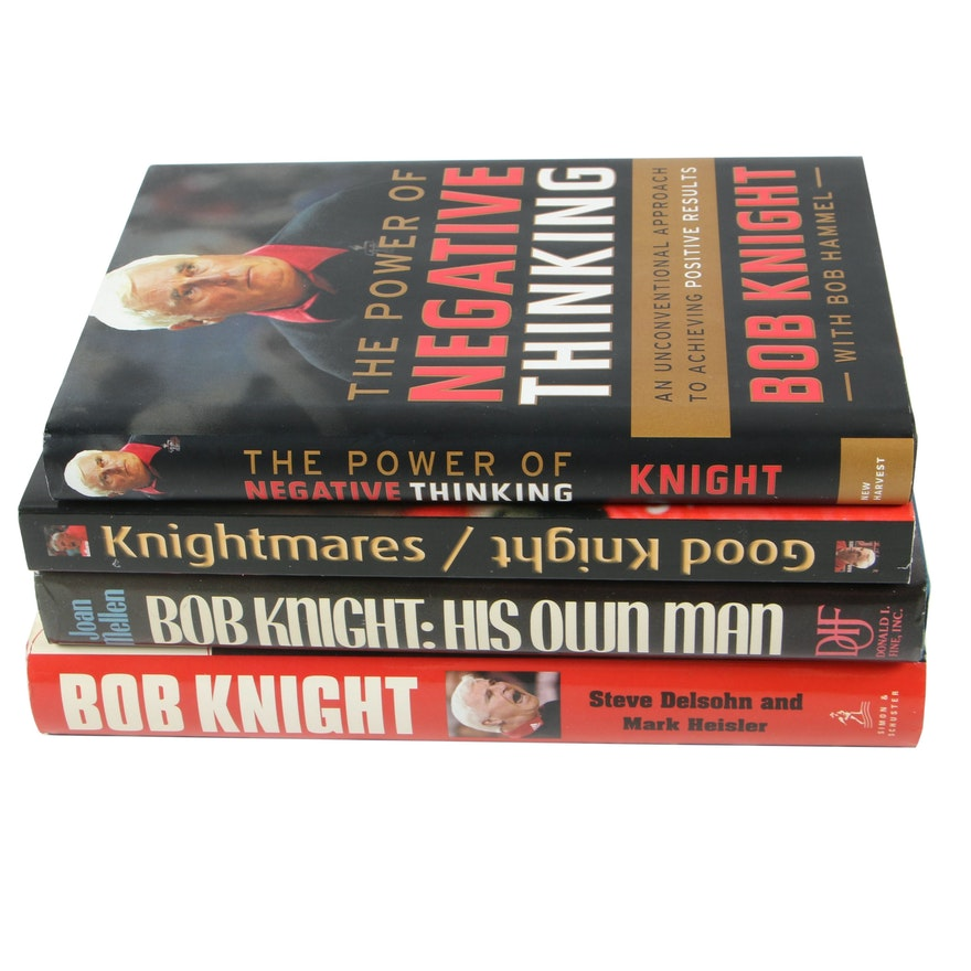 """First Edition """"Bob Knight: The Unauthorized Biography"""" with Other Knight Books"""