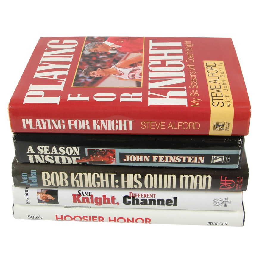 """First Edition """"Playing for Knight"""" with Additional Coach Bob Knight Biographies"""