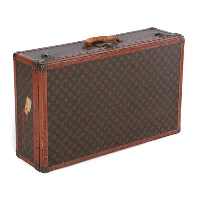 Louis Vuitton Alzer 75 Monogram Canvas Suitcase, Vintage