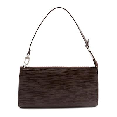 Louis Vuitton Pochette 24 in Moka Epi Leather