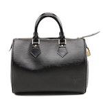 Louis Vuitton Speedy 25 Handbag in Black Epi Leather