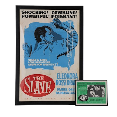 "Serigraph One Sheet Movie Poster and Lobby Card for ""The Slave"", 1953"