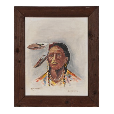 "Bridges Oil Painting ""Blackfoot"""