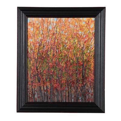 "Monica Cascio Oil Painting ""Organized Fall Chaos,"" 2019"