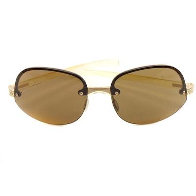 Prada Rimless Transparent Yellow Frame Rahmenlos Original Sunglasses