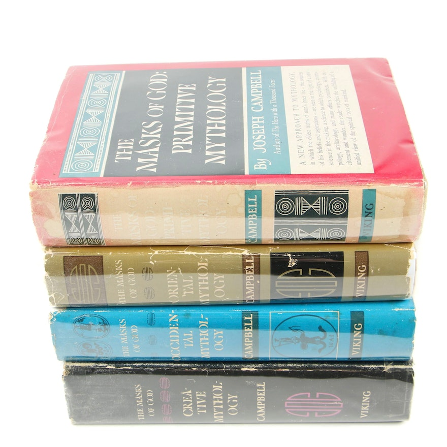 """First Edition """"The Masks of God"""" by J. Campbell, Four Volume Set"""