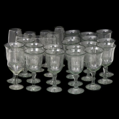 Blown Glass Water Goblets, Wine Glasses and Other Stemware