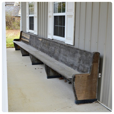 Long Outdoor Stable Bench, Late 20th Century
