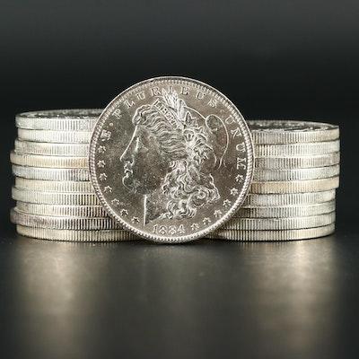 Roll of Twenty Uncirculated 1884-O Morgan Silver Dollars