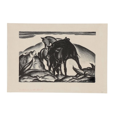 "Lithograph after Lon Megargee ""Interlude on the Desert"""