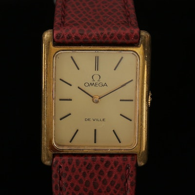Vintage Omega Deville  Stainless Steel Stem Wind Wristwatch, 1972