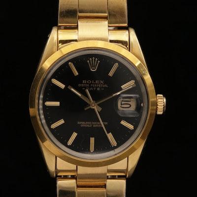 Vintage Rolex Date Shell Stainless Steel Wristwatch, 1985