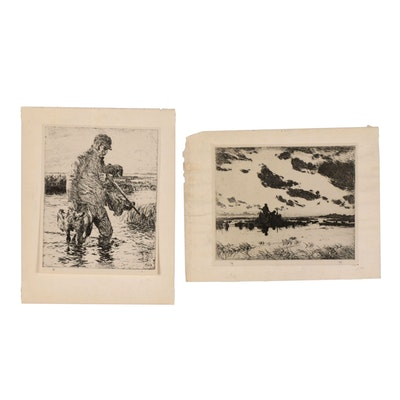 Rotogravures after Hunting Etchings