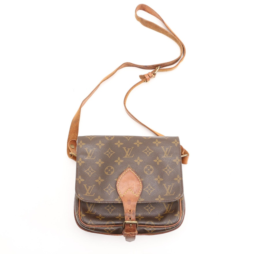 Louis Vuitton Cartouchiere Crossbody in Monogram Canvas and Vachetta Leather