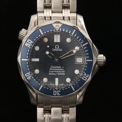 Omega Seamaster 300M Mid-Size Stainless Steel Automatic Wristwatch