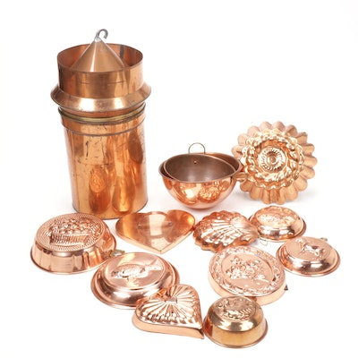 Copper Molds, Mixing Bowls and Cookware