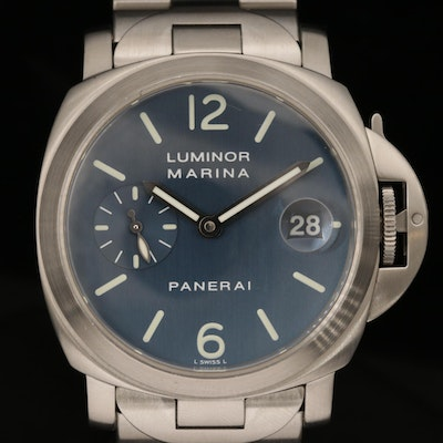 Panerai Luminor Marina PAM69 Stainless Steel Automatic Wristwatch