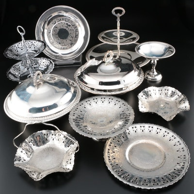 Empire Silver Co. Silver Plate Serving Dish and Other Silver Plate Tableware