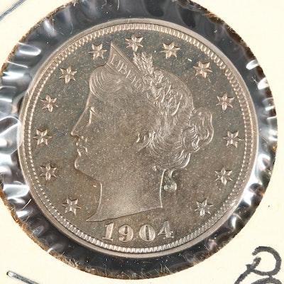 "High Grade Proof 1904 Liberty Head ""V"" Nickel"