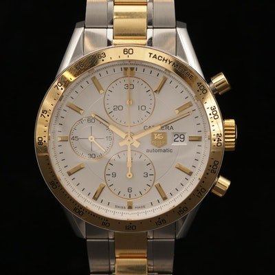 TAG Heuer Carrera Two Tone Automatic Chronograph Wristwatch