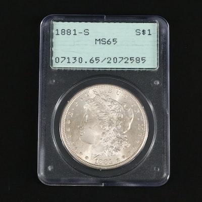 PCGS Graded MS65 1881-S Morgan Silver Dollar